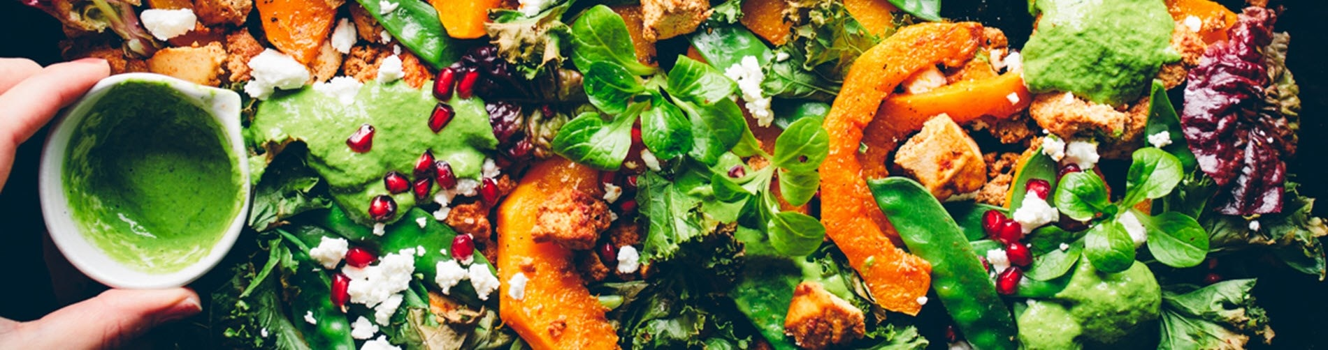 Roasted Pumpkin Tray with Green Harissa